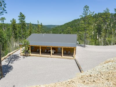 Photo for Spectacular Views From This Newly Built 3BR Hilltop Home outside Deadwood
