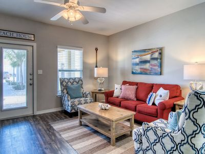 Photo for Pool view townhouse w/shared pools & playground - close to beach!