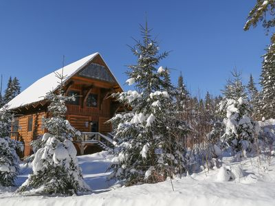 Photo for Early Winter DEALS! Luxury Log Cabin!
