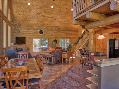 Photo for Ultimate 3BD Mountain Cabin: Rustic Luxury with Private Hot Tub!