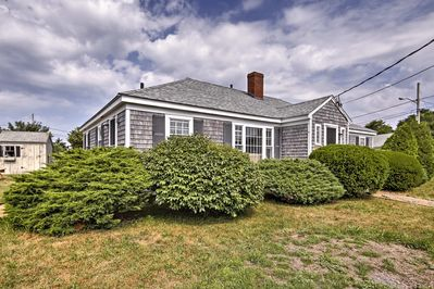 You'll love the lush foliage surrounding this cottage.