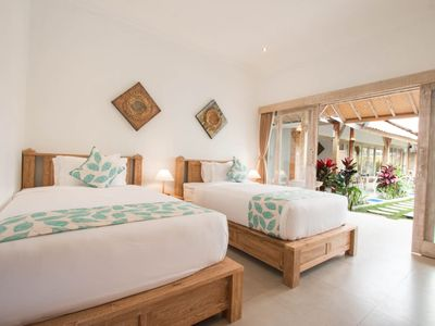 Photo for Peaceful Fancy Twin Bed Room with Pool in Canggu
