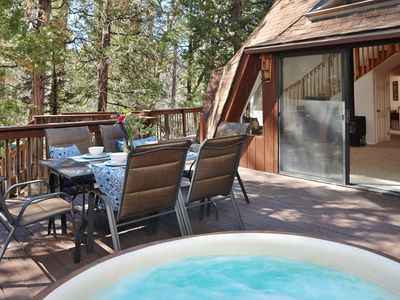 Photo for Extraordinary Dome 2: Hot Tub, Walk to Town, Perfect for Groups/Families!