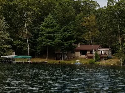 Photo for 200 Ft. of beautiful beach frontage Iron River WI. 1000 acres Pike lake chain.