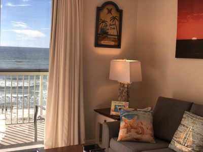 Photo for Newly Renovated on 3rd Floor! Right on the Beach!