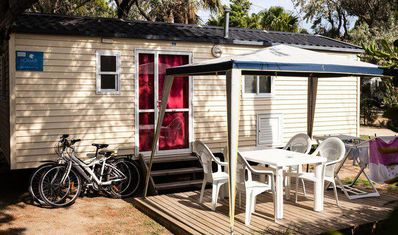 Photo for Camping La Palmeraie **** - Bungalow 3 rooms 4/6 people