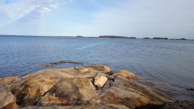 Rocky Point, looking at Hart Miller Island