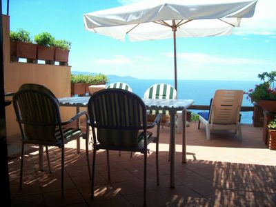 Photo for house with terrace overlooking the sea, swimming pool and exclusive establishment