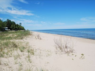 It's hard to believe that a pristine beach this beautiful exists in Wisconsin!