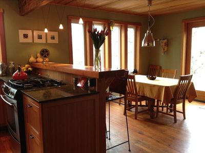 Kitchen, Bar, and Dining