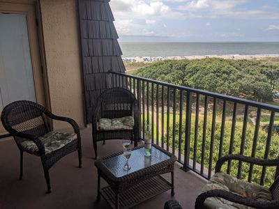 Ocean View , Top Floor, 6502 (with roof), Very Private Incredible View -  Folly Field
