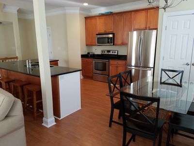 Photo for Large End Unit Townhome, Ocean block, Sleeps 14