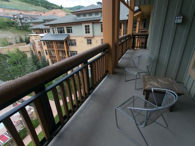 Photo for Rustic lofted unit steps away from mountain adventure