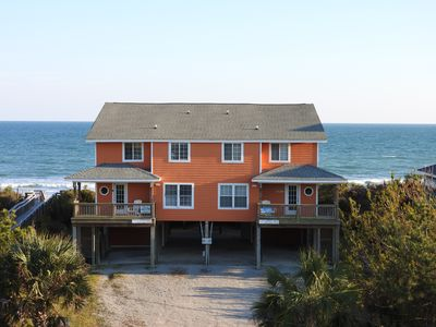 Photo for Beautiful Emerald Isle Oceanfront 5 Bedroom Duplex: 'Changes in Latitudes'