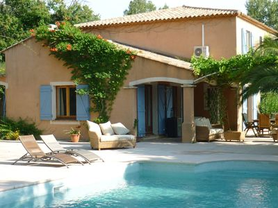 Photo for A gorgeous villa with a large pool and huge terraces set in a chestnut forrest.