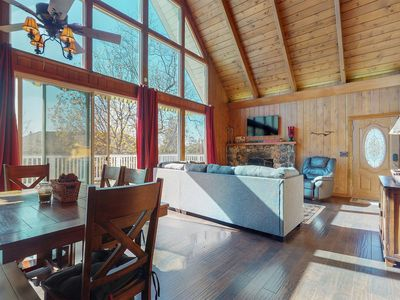 Photo for NEW LISTING! Charming wood interior home with scenic views and near the lake!