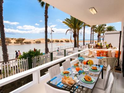 Photo for Maspalomas Beach front Apartment ref. AB
