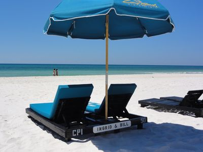 free beach lounge chairs u0026 umbrella service reserved just for our guests - Beach Lounge Chairs