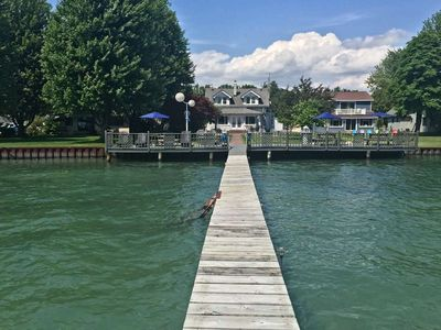 Photo for Perfect Lake St. Clair Resort Home with Two BOAT SLIPS & 175ft Sandy Waterfront!
