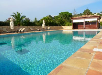 Take a few steps to reach our stunning pool area