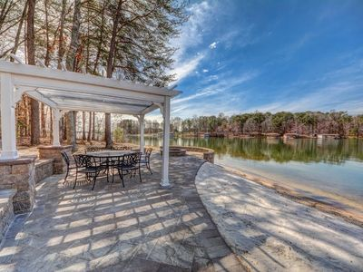 The Gables at Lake Anna great waterfront home on public side with beach