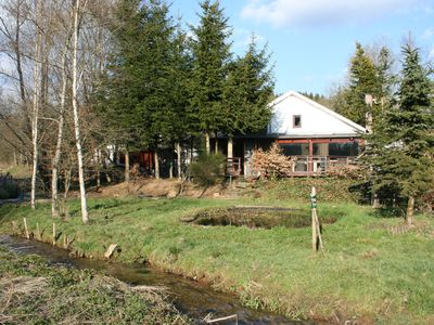 Photo for Romantic chalets with all amenities and the feel of a hunting lodge.
