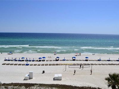 Photo for 3 BR/3 BA beach front condo, Sleeps 8, indoor/outdoor pool, luxury amenities
