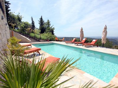 Photo for Villa with a breathtaking view, in a quiet countryside,