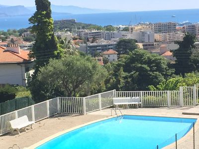 Photo for Luxury apartment in Antibes, quiet area with pool
