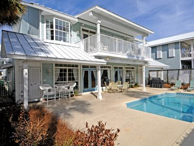 Photo for GORGEOUS GULF VIEW HOME & HUGE PRIVATE POOL! EXIT BACK GATE TO BEACH ACCESS!