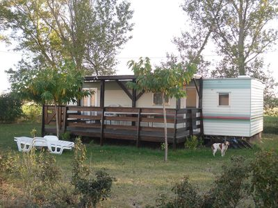 Photo for Mobile home at the farm with pool, sleeps 4 to 6, diverse activities