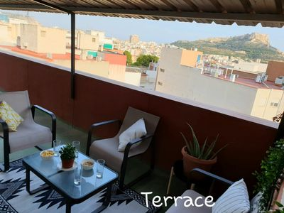 Photo for Flat with private terrace, view of the Castillo