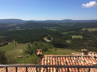 Photo for Gorges du Verdon, classified village, charming house panoramic terrace 4/5 pers