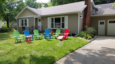 Photo for A Charming Cottage Home On A Quiet Street Just South Of Pier With Lake View!