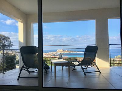 Photo for MODERN VILLA WITH OUTSTANDING VIEW ON ÎLE ROUSSE BAY