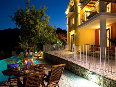 Photo for Luxury villa overlooking the sea with private pool, near to the beach