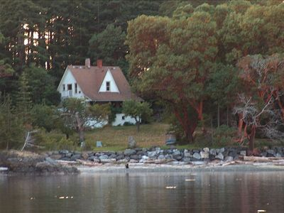 Photo for Historic Farmhouse with two private beaches + walking distance to East Sound
