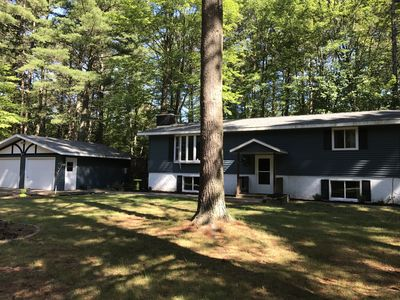 Photo for 4 bedroom home on cul de sac next to ATV/snowmobile trail a block from Lost Lake