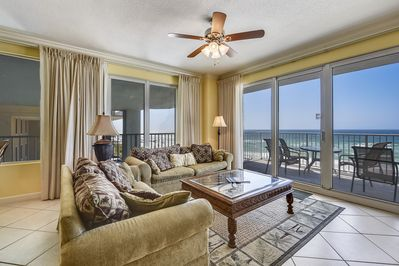 Living Room  - Living Room with balcony access and Gulf view