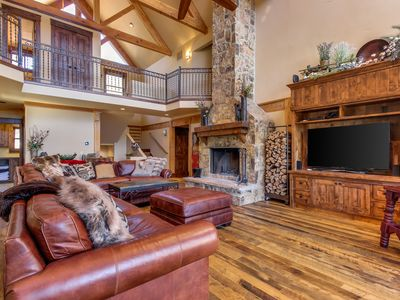 Photo for NEW LISTING! Luxury mountain home with private hot tub, fireplace, outdoor fire