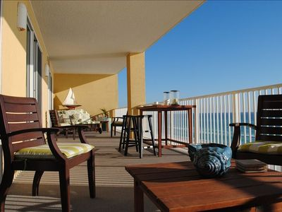Photo for AUG- SEPT Open: 2 Masters on Water; 430sq' Covered Deck; Near Pier Park & 30-A
