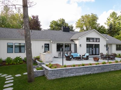 Photo for Stunning, Waterfront Home - 4 Bedroom, Nano Wall to Patio, Built in Grill!