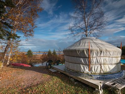 Photo for Experience a Mongolian or Cedar Yurt at Cabot Shores - We are on the Cabot Trail
