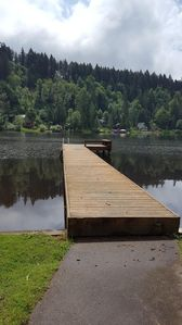 Photo for Ohop lake cabin on a beautiful quiet lake setting pet friendly