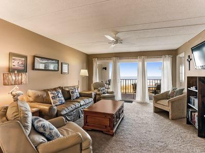 Photo for Great comfortable 2nd floor unit. 2 bedroom 2 bath private balcony with good ocean view.