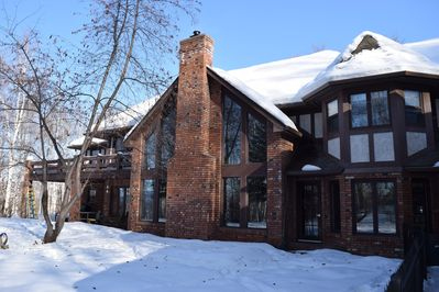 Back of Manor in the Winter