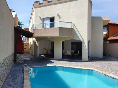 Photo for Beautiful house in the cove with 6 suites, pool, barbecue, solari