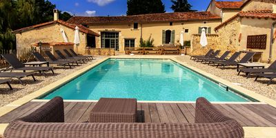 Photo for Old farmhouse renovated in a 3 hectares estate in Dordogne