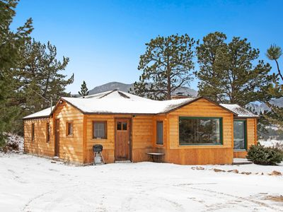 Photo for NEW LISTING! Lovely rustic cabin w/ mountain views & cozy wood-burning fireplace