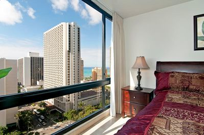 Gorgeous Ocean and City Views from the Bedroom